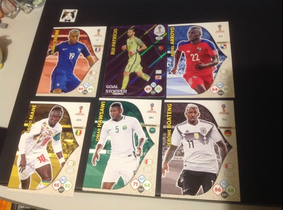Panini Adrenalin XL trading cards