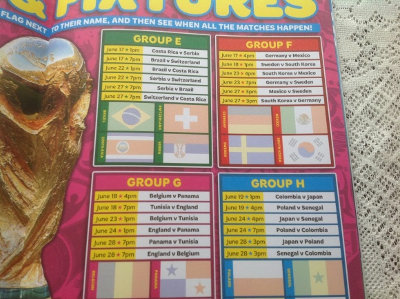 MATCH FIFA WORLD CUP DIARY Fixtures 2