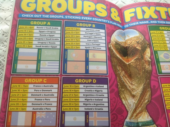 MATCH FIFA WORLD CUP DIARY Fixtures