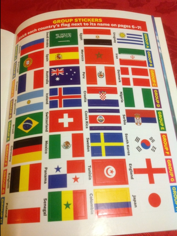 MATCH FIFA WORLD CUP DIARY Flag stickers