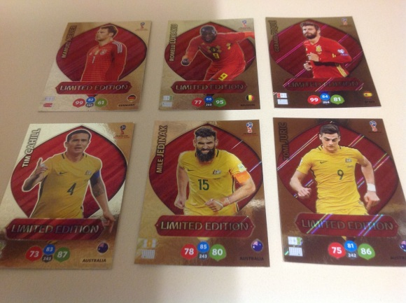 PANIN ADRENALYN XL FIFA LIMITED EDITION CARDS