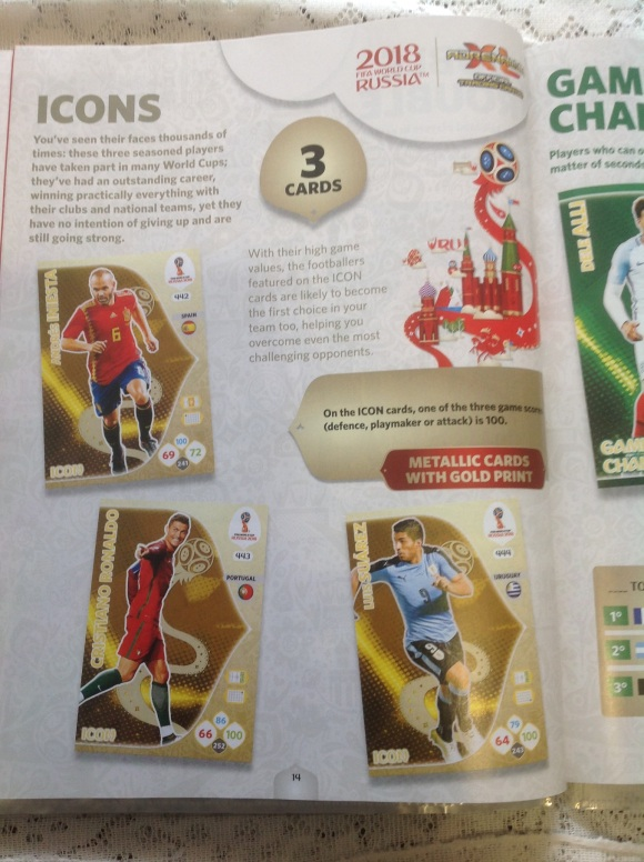 PANIN ADRENALYN XL FIFA TRADING CARDS GUIDE Icons