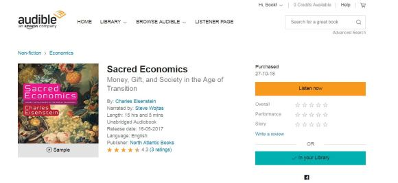 SACRED ECONOMICS AUDIBLE BOOK